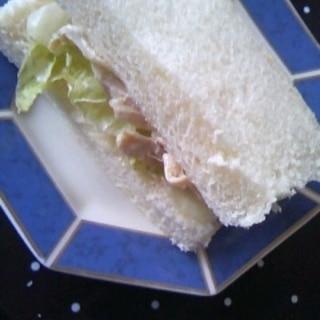 ささみ&レタス☆サンドイッチ