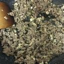 ひき肉マッシュルーム炒め