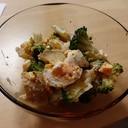 ブロッコリーとゆで卵とさつまいものサラダ
