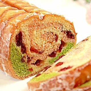 【ママパン】しっとり春色ラウンドパン