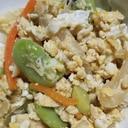 旬のおかず★幼児食にも!空豆と新玉ねぎの炒り豆腐