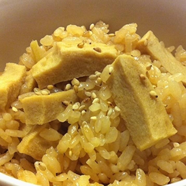 高野豆腐と有機生姜の炊き込みごはん