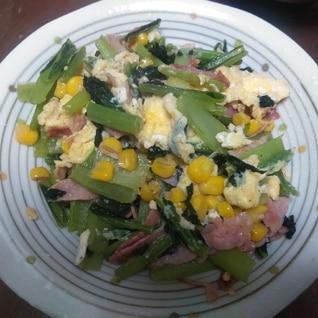 苦くない小松菜の卵炒め