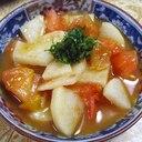 長芋トマトのバタポン炒め