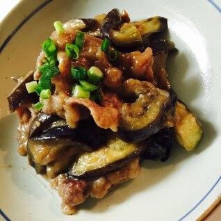 お店の味♡豚肉と茄子の味噌炒め