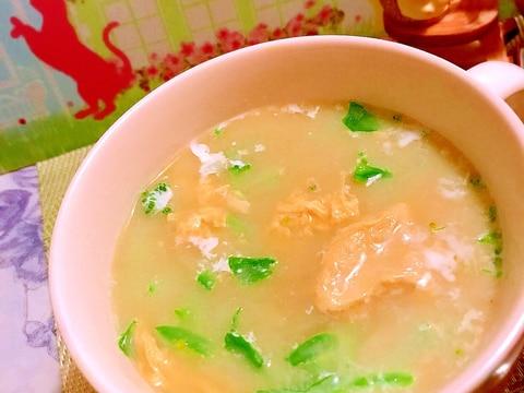 菜の花のかき玉クリームスープ