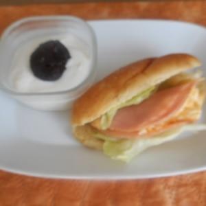 定番☆ハムと卵のサンドプレート