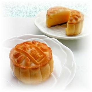 咸蛋(塩卵)不使用の奶黄(カスタード)月餅