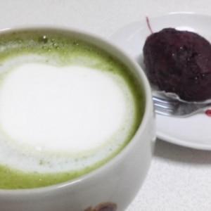 あったか~い抹茶ラテ(黒砂糖入り)