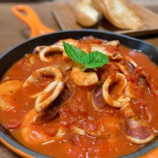 コストコの冷凍ボイルホタテ使用♡魚介のトマト煮