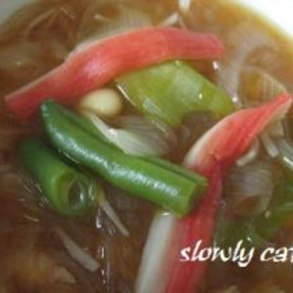 甘辛春雨スープ