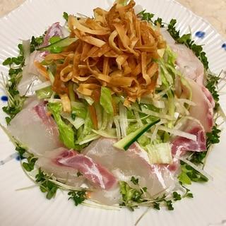 刺身サラダ★ごま油をジュッとかけて〜2