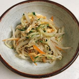 冷やし中華のタレで♪簡単もやしサラダ