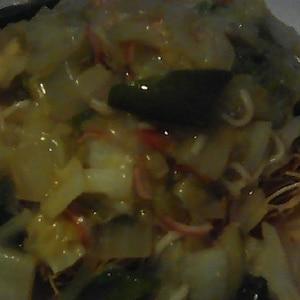いつも絶品 ❤️マルタイ 皿うどん!!パリパリ麺