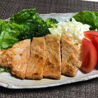 豚ロース肉の味噌粕漬けステーキ