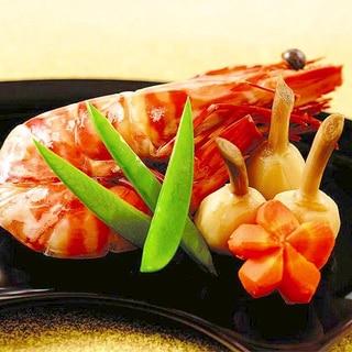 「かき醤油」で簡単おせち♪海老とクワイの甘煮