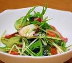 たこと水菜のシャキシャキサラダ