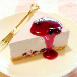 ジャムで簡単!ブルーベリーレアチーズケーキ