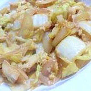 白菜消費に☆簡単な白菜と玉ねぎの卵とじ
