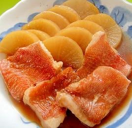赤魚と大根の煮付け