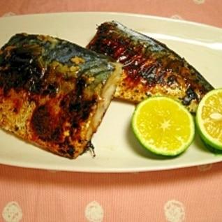 フライパンで塩麹鯖の焼き物