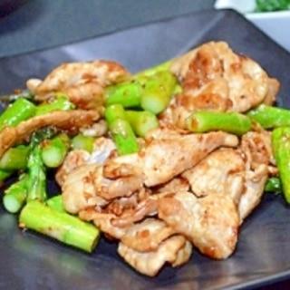 食べる焼肉のタレで作る豚肉とアスパラ炒め