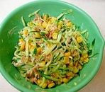 きゅうりとツナのコーンサラダ