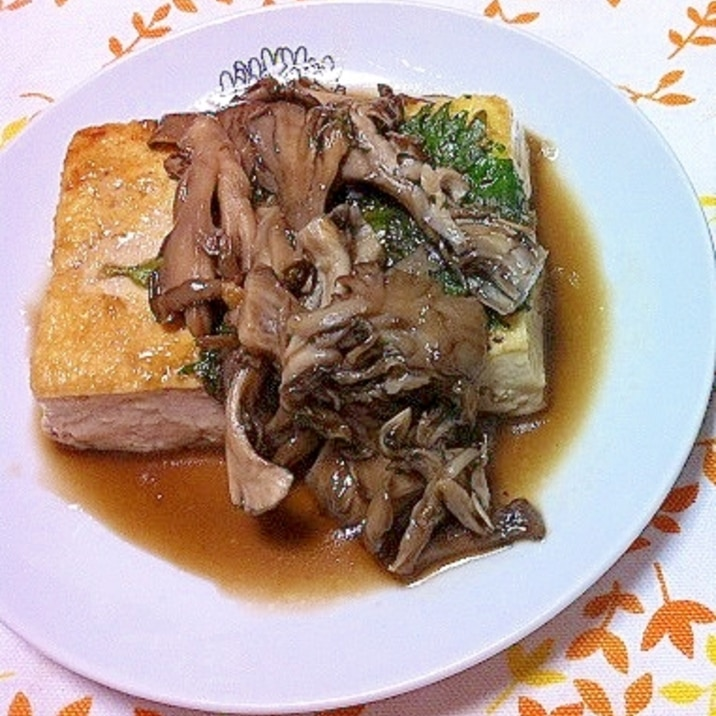 舞茸たっぷり豆腐のオイスターソテー
