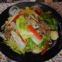 春キャベツと新玉ねぎの肉野菜炒め
