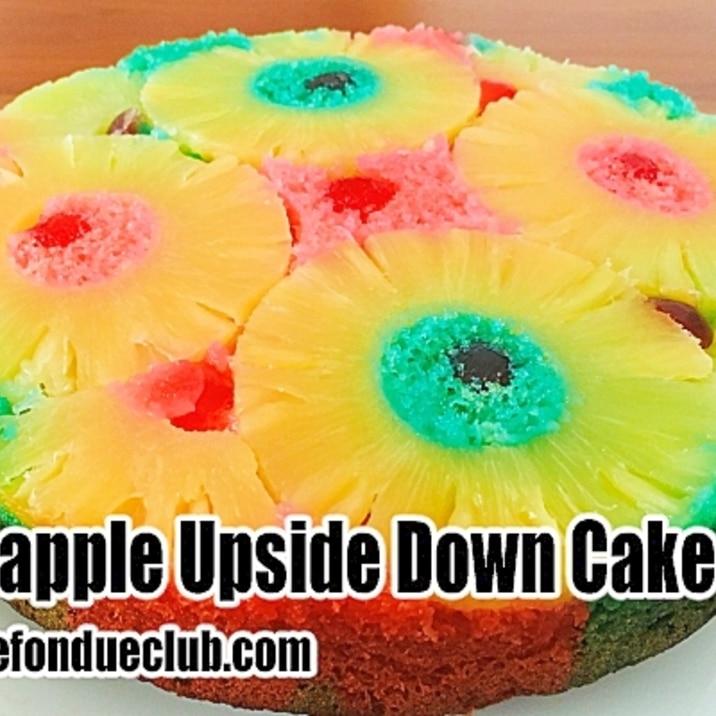 パイナップルのハワイアンなアップサイドダウンケーキ