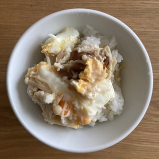 えのきと梅干しの卵とじ丼