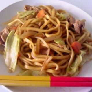 沖縄そばの麺で作る、おいしい焼きそば☆