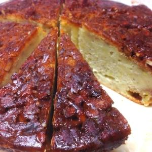 ザックリ濃厚!キャラメルナッツと完熟バナナのケーキ