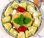 生ハムとキウイとアボガドのサラダ