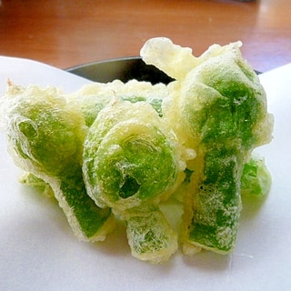春の味☆ねぎ坊主の天ぷら