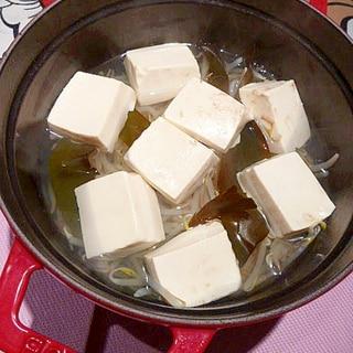 月末救済レシピ☆節約♪もやし湯豆腐