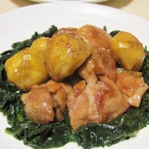 ほっこり秋味♪鶏と栗の中華炒め煮