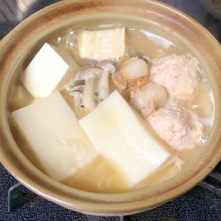 簡単☆餅入り海鮮味噌鍋