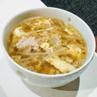 餃子のタネをリメイク♡肉団子スープ