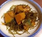 昆布がおいしい☆かぼちゃと切り昆布の煮物