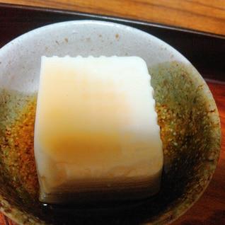 豆腐のだし醤油かけ