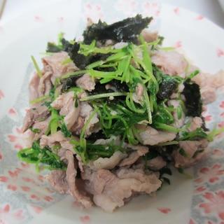 豚こまと豆苗の海苔炒め