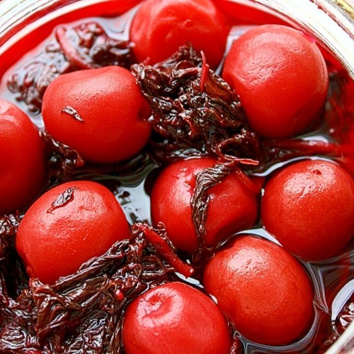 梅仕事*小梅の梅酢漬け