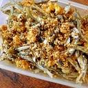 クルミと煮干しのポリポリおやつ