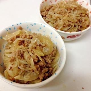 玉ねぎとひき肉のすき焼き風煮込み