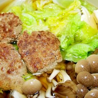 あいびき肉団子と白菜の鍋