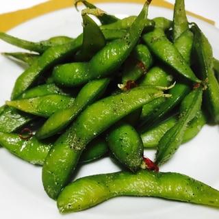 レンジで最速!枝豆のペペロンチーノ