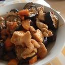茄子と鶏胸肉のピリ辛味噌炒め