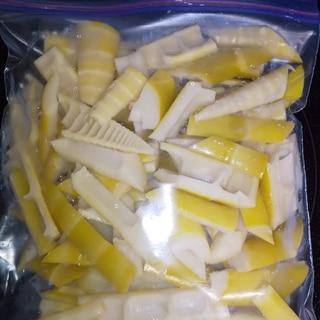真竹は使い切れなかったら冷凍保存♪