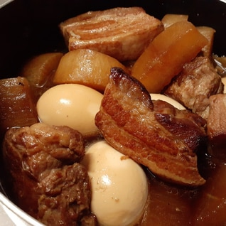 炊飯器で簡単!ほぐれる角煮!こってり味!